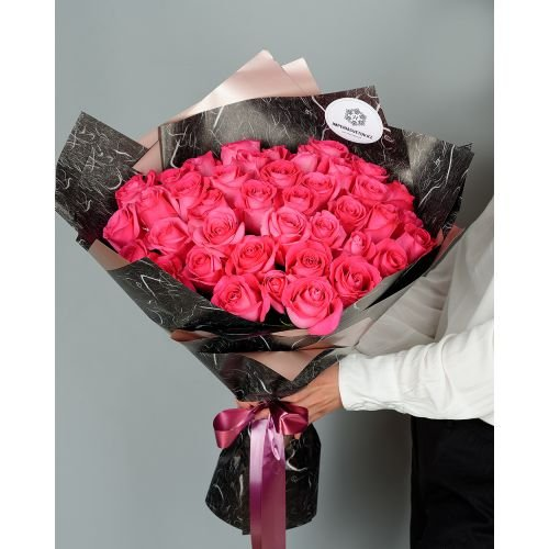 Купить на заказ Букет из 51 розовых роз с доставкой в Ушарале