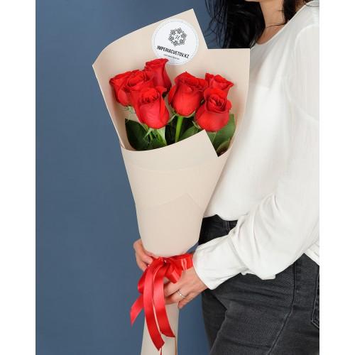 Купить на заказ Букет из 7 роз с доставкой в Ушарале
