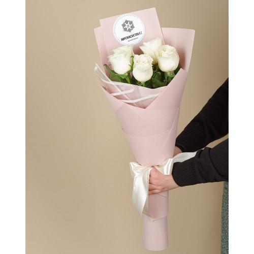 Купить на заказ Букет из 5 роз с доставкой в Ушарале
