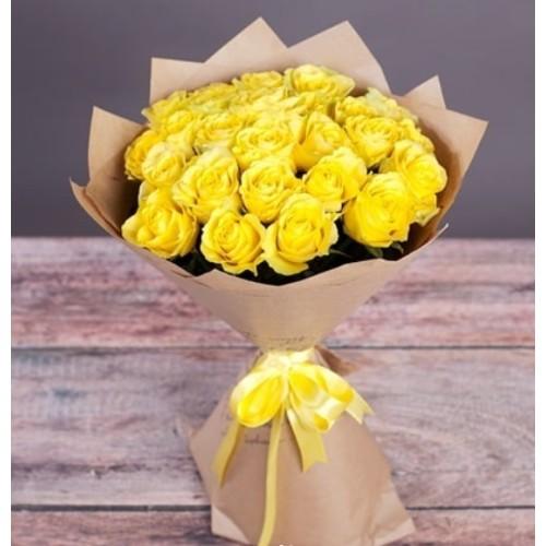 Купить на заказ Букет из желтых роз с доставкой в Ушарале